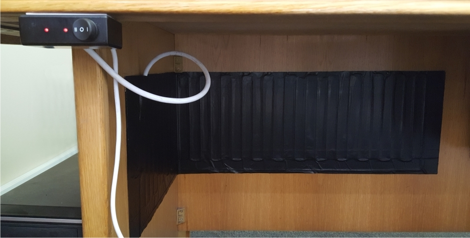 Under Desk Heaters Coldbuster Diy Underfloor Heating