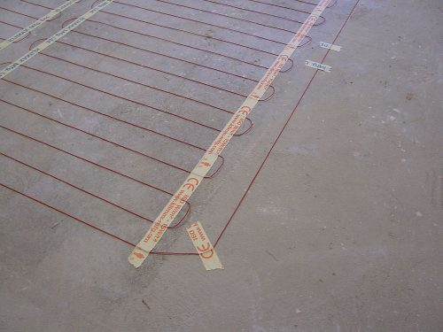 Under Floor Heating Installation Layout with Coldbuster Under Tile Kit