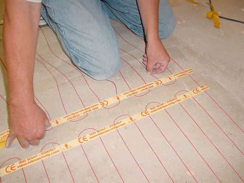 Under Floor Heating Installation with Coldbuster DIY Under Tile Heating Kit